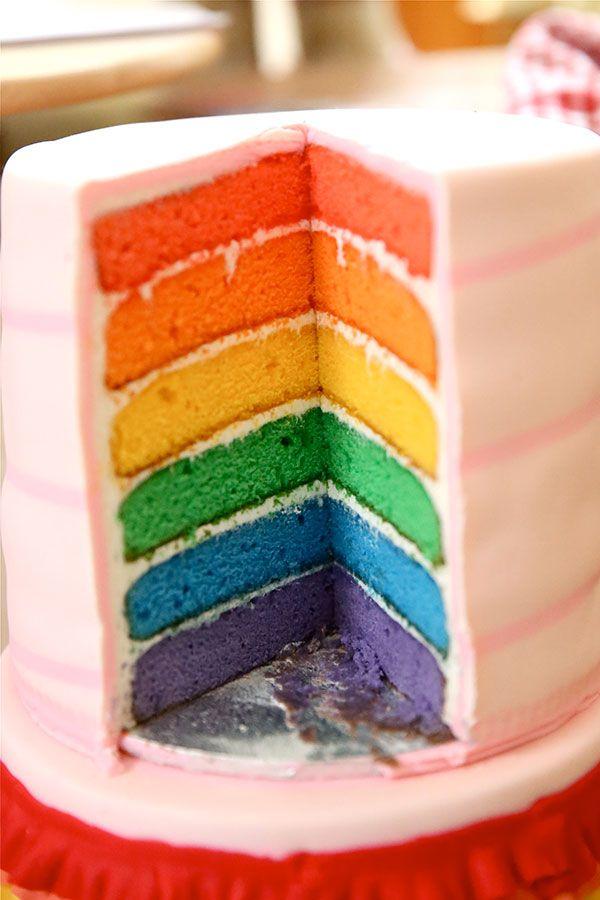 Rainbow Layered Cake | green eggs and ham | Pinterest