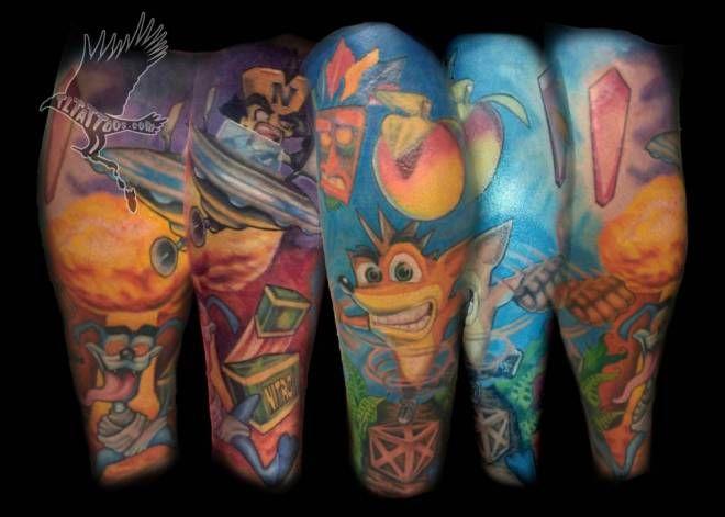 Crash bandicoot tattoo for Crash bandicoot tattoo