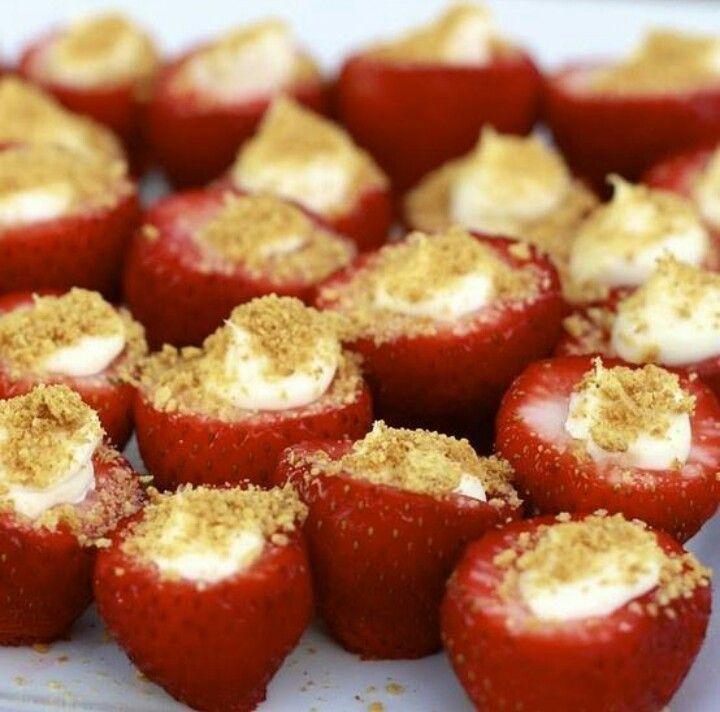 Strawberry cheesecake bites | Food | Pinterest