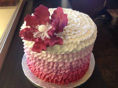 Buttercream Ruffle Cake ~ Amphora Bakery ~ Vienna, VA