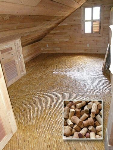 Wine cork floor for the basement home pinterest for Is cork flooring good for basements