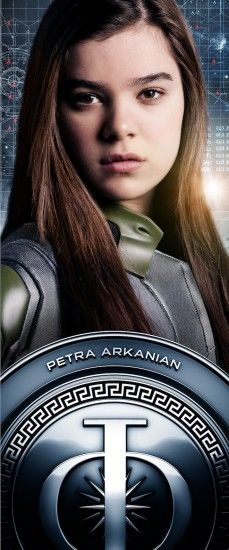 Petra Arkanian's character banner that displayed at the #EndersGame Experience at San Diego Comic Con 2013.