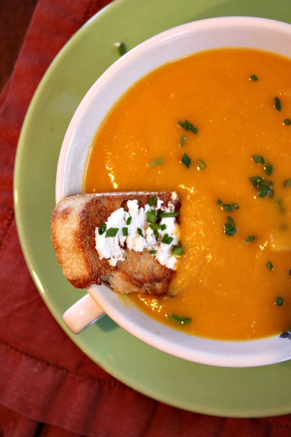 Autumn Vegetable Soup - apples, carrots, butternut squash, and sweet ...