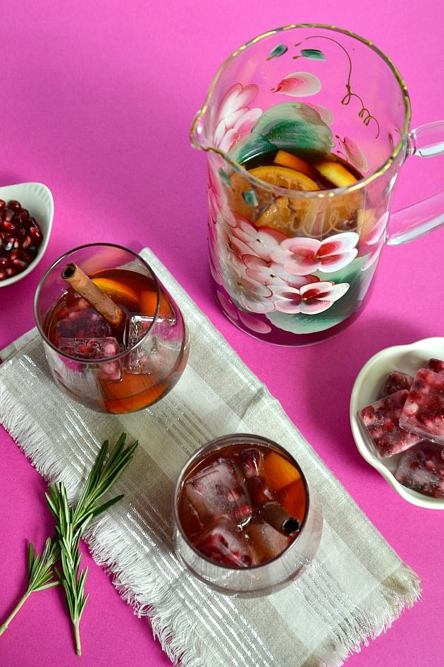 Chilled Mulled Pomegranate Wine | Drinks | Pinterest