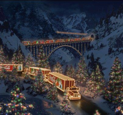 Coke Cola Christmas Train. I miss seeing these commercials as a kid