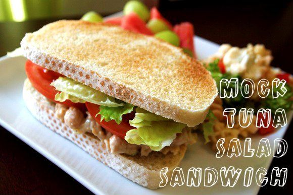 Perfect Packed Lunch: Mock Tuna Salad, check out the recipe here: http ...