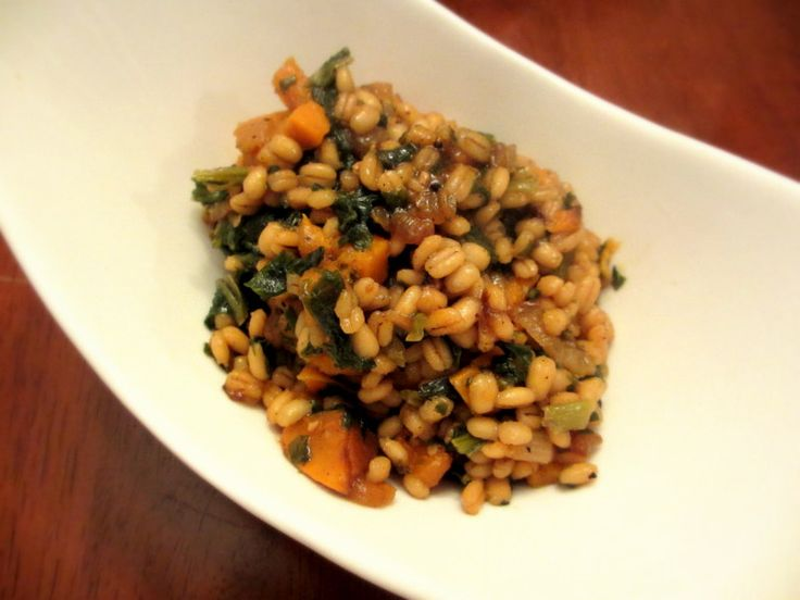 Sweet Potato And Barley Risotto Recipe — Dishmaps