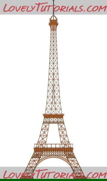 Eiffel tower templates | Sugar paste | Pinterest