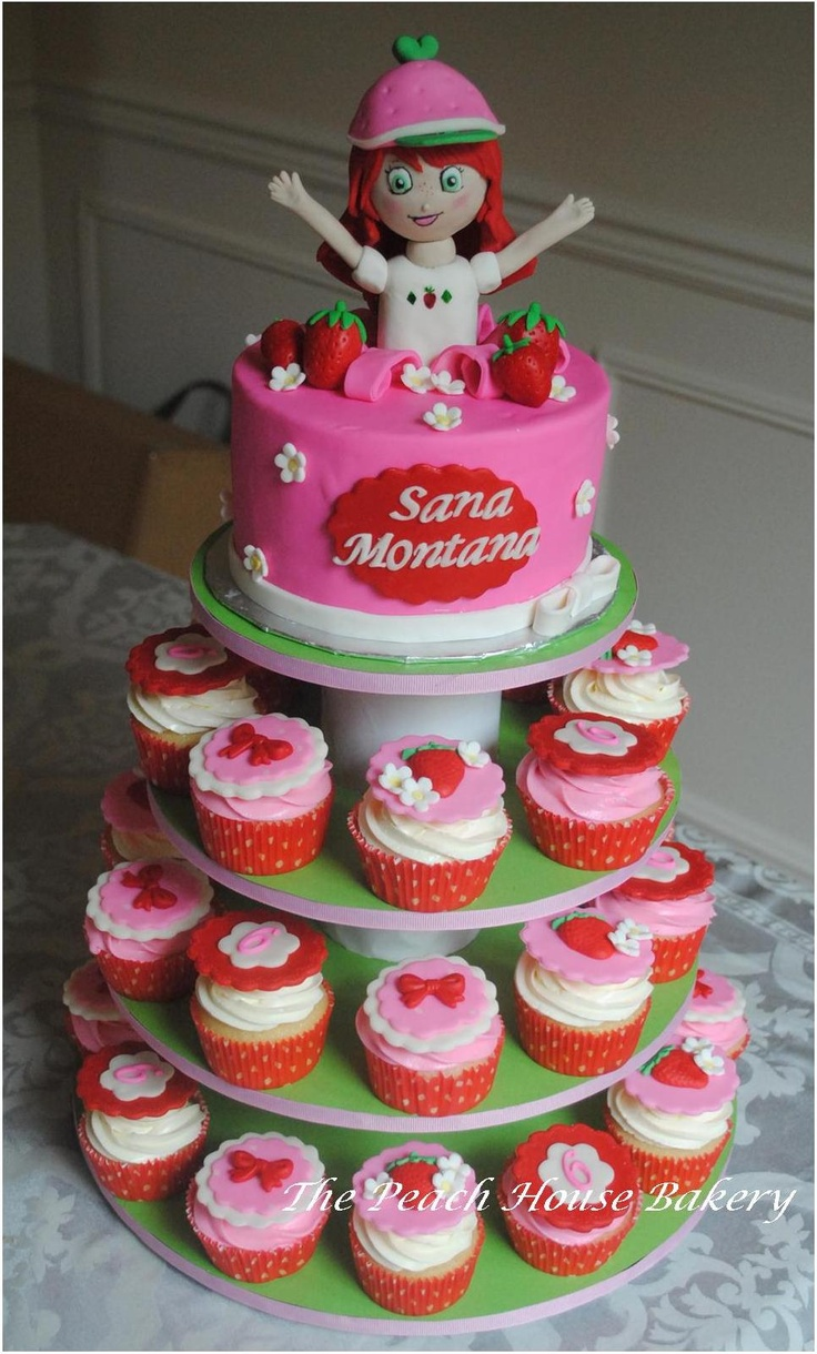 Strawberry shortcake cupcake tower | Childrens' Cakes | Pinterest
