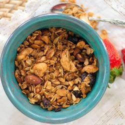 Cherry Nut Granola - you'll never buy pre-made granola again!