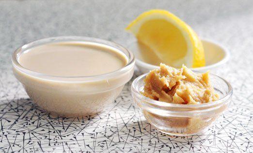 Tahini-Miso Dressing 1/3 cup tahini 1 tablespoon white miso 1 teaspoon ...
