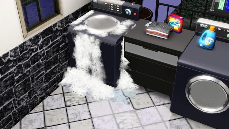 overflowing washing machine