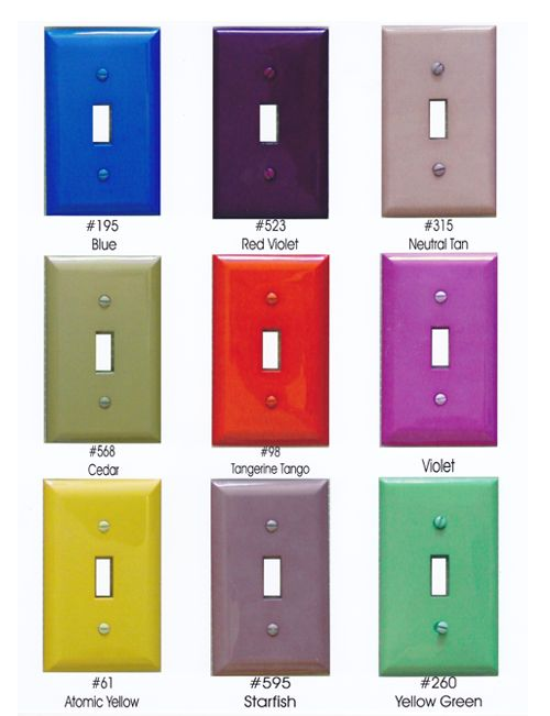 you can dye switchplates with rit dye...who knew? @Sydney Merrell