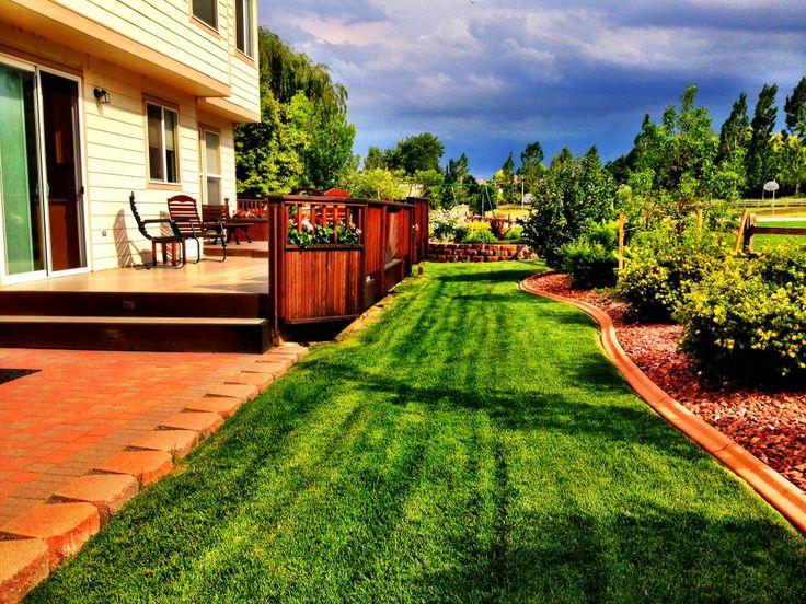 Backyard patio deck ideas - Looking Past The Patio And Deck Backyard Ideas Pinterest