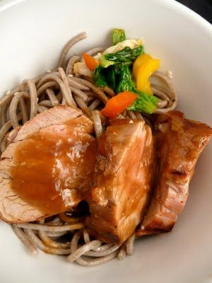 Sesame and Soy-Ginger Pork with Soba | how do you do | Pinterest