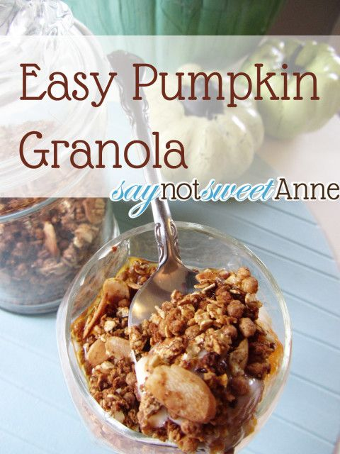 Pumpkin Pie Granola [Recipe] | Sweet Anne Handcrafted Designs
