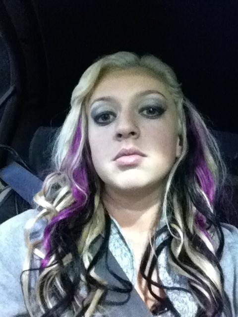 Blonde, black, and purple hair:) | Hair; Beauty | Pinterest