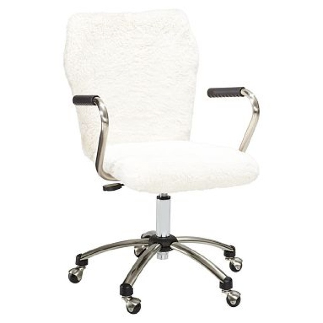 barn teen Sherpa desk chair | New Home Office Ideas | Pintere
