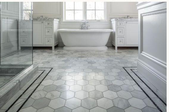 Tile Vanities Wainscoting Bathrooms Pinterest