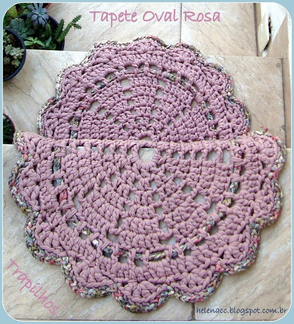 Crochet Rug Patterns : pattern rug crochet alfombra Pinterest