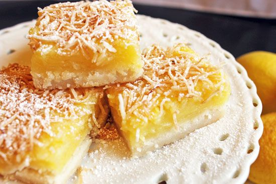 Coconut Lemon Bars: Stacked with tangy lemon and tropical coconut ...