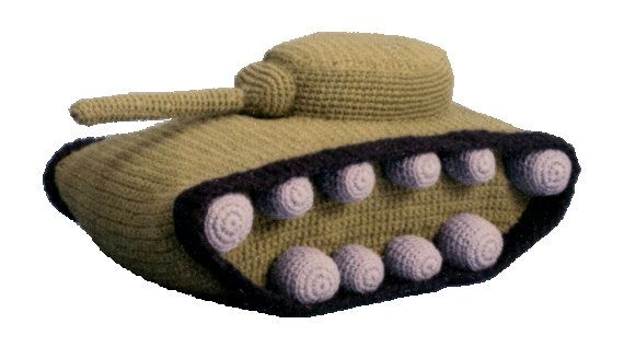 PDF Amigurumi Crochet Pattern Army Tank Pillow Pajama Bag ...