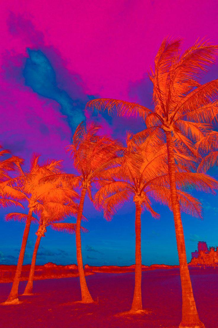 Palm trees neon art