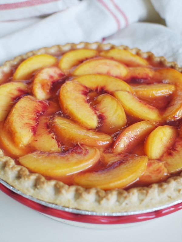 Summer Peach Pie (cold pie)