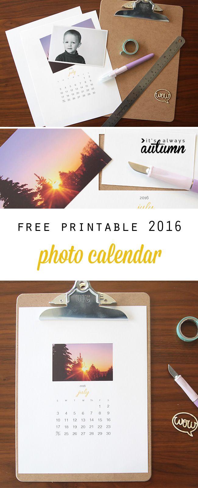 Make a free calendar with your photos