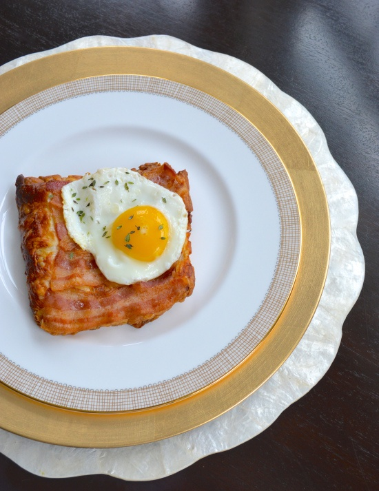 Fried-Egg-and-Bacon Puff Pastry Squares Recipes — Dishmaps
