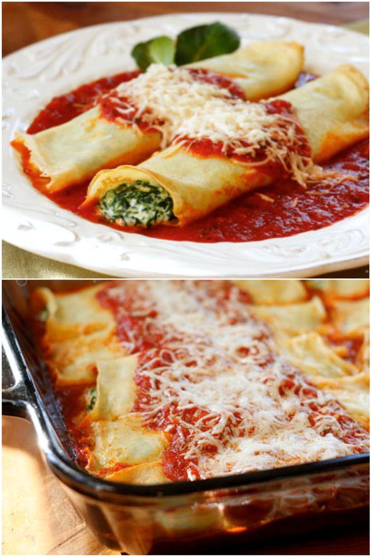 Homemade Spinach Manicotti | Recipe
