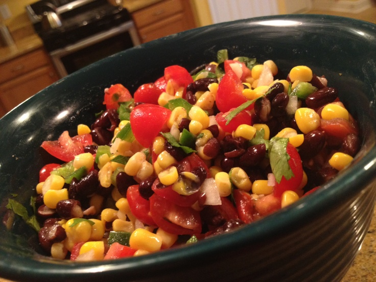 black bean corn lime salsa | This is why I'm fat! | Pinterest