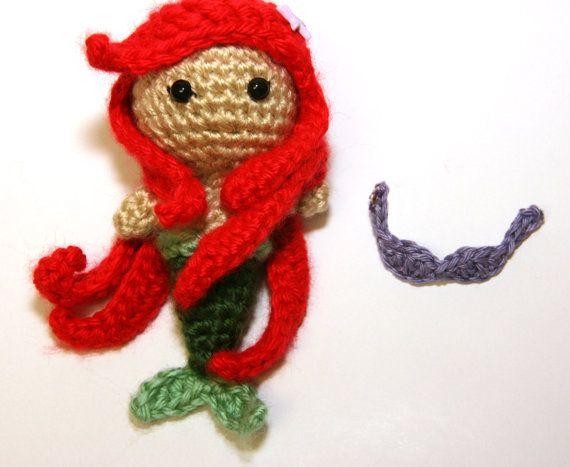 PATTERN Ariel Little Mermaid Princess Crochet Doll Amirugumi