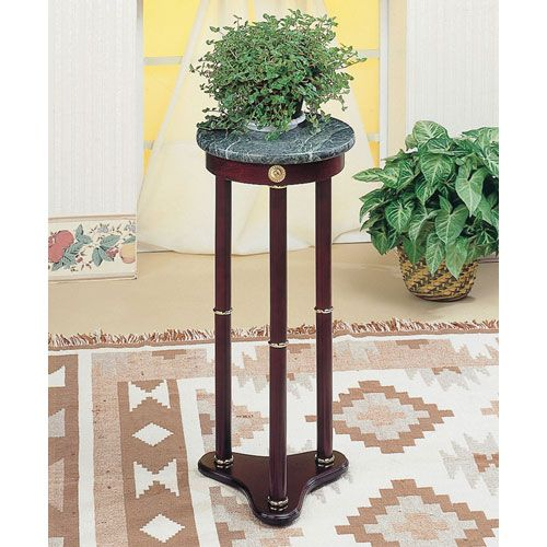 Nice Green Plant Stands Indoor : Green Marble Top Round Plant Stand Coaster Furniture Indoor Plant Sta ...