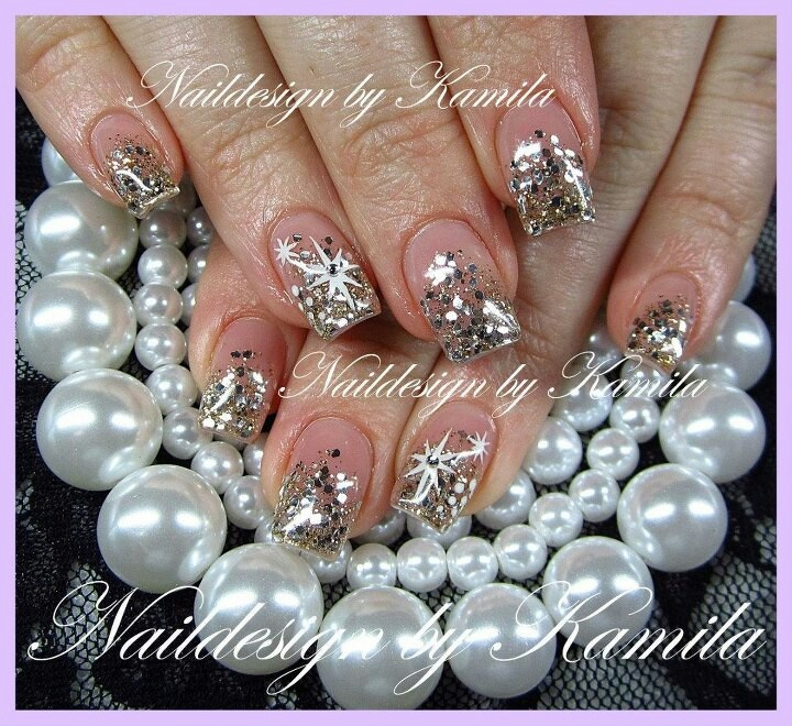 Nail art paillettes by Kamila | Nails | Pinterest