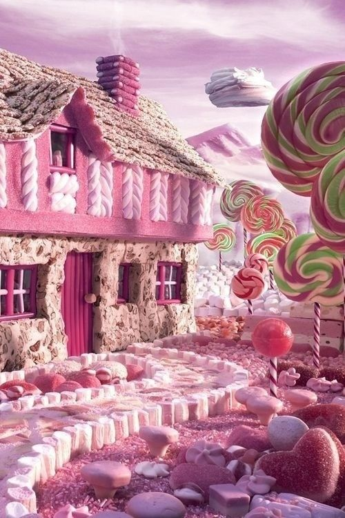 Candy Cottage - Carl Warner - Foodscape photographer Carl Warner uses fresh fruit, vegetables and meat to bring his imagination to life. His latest book, A 'World of Food', includes this picture, entitled 'Candy Cottage'. He compares his work to Willy Wonka's creations in Charlie and the Chocolate Factory.