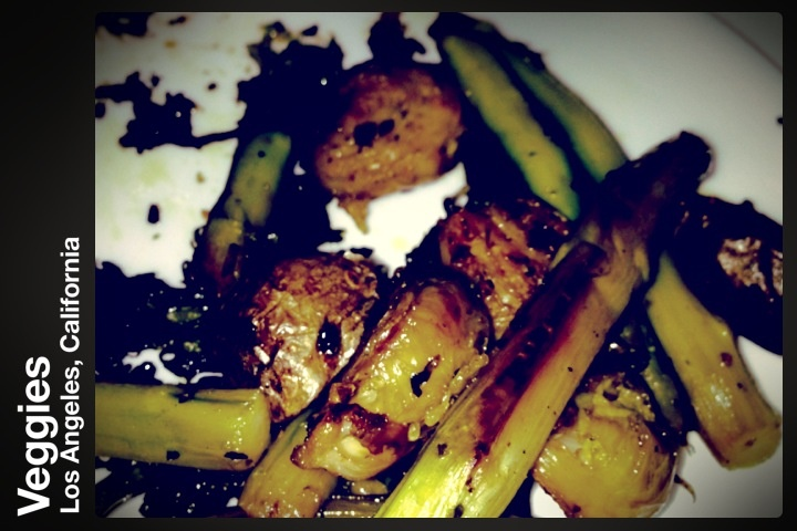 Brussels sprouts asparagus broccoli small red potatoes oregano olive ...