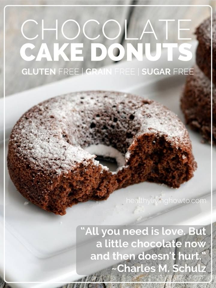 Chocolate cake donuts - gluten free | Food and Drink | Pinterest