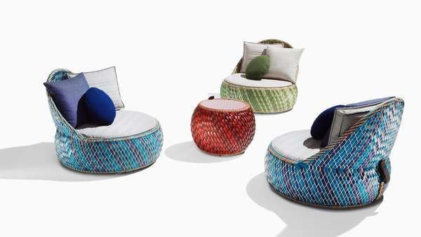 Awesome patio furniture made of recycled food packaging