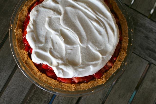 Strawberry Icebox Pie Adapted from Martha Stewart