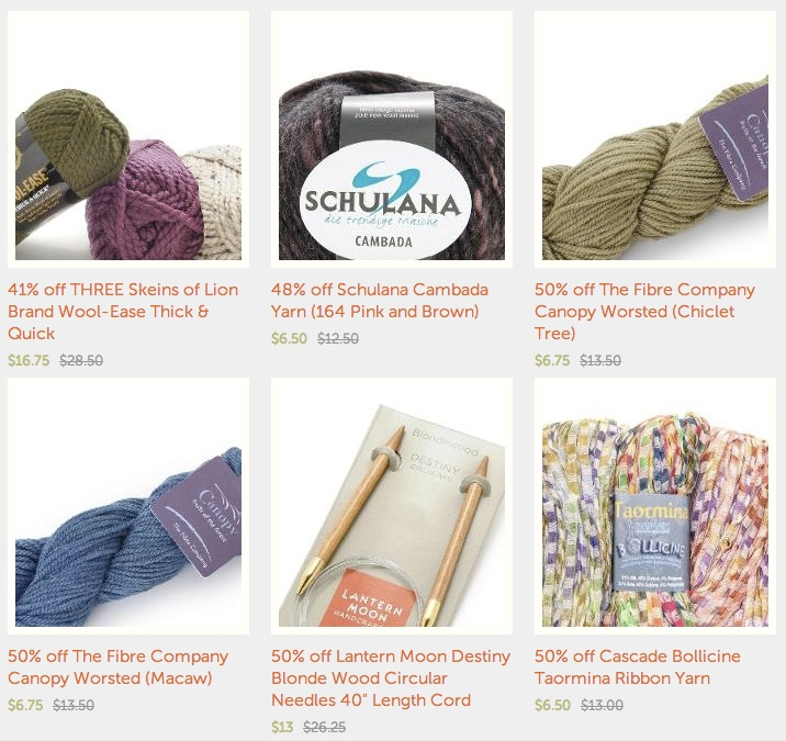From craftsy there are yarns in bulk for all your big winter projects