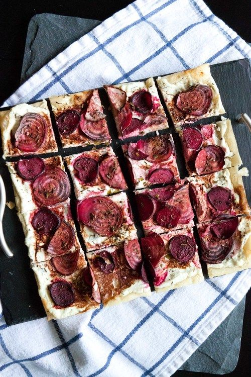 roasted beet & goat cheese tart | Food + Drink | Pinterest