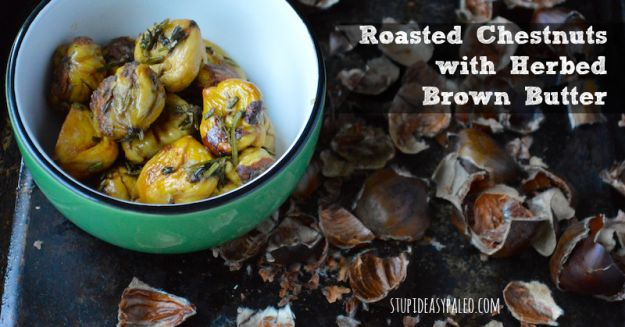 Roasted Chestnuts with Herbed Brown Butter