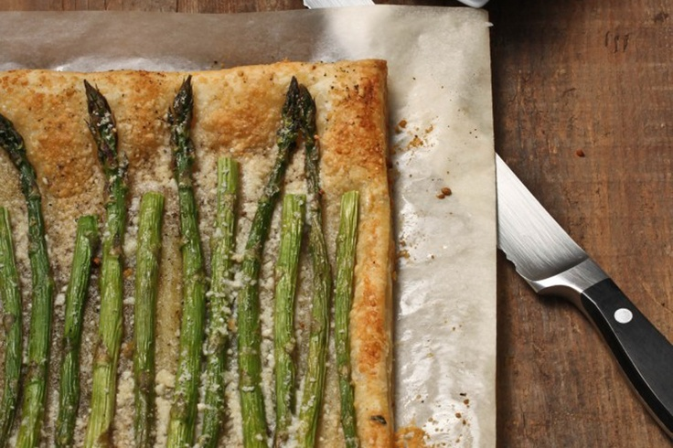 even a recipe just throw some cheese and asparagus on puff pastry and ...