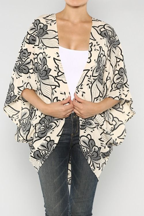 Floral Kimono Cardigan  #wholesale #fashion #clothing #ootd #wiwt #shopitrightnow #jeans #patterns #prints #dress #pants #trousers #skirts #tops #jeans #jacket #fall #nyfw #floral #flower