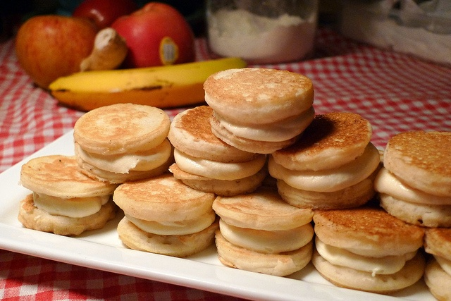 Miniature Pancake Sandwich Cookies with Maple Buttercream by jeffheuer ...