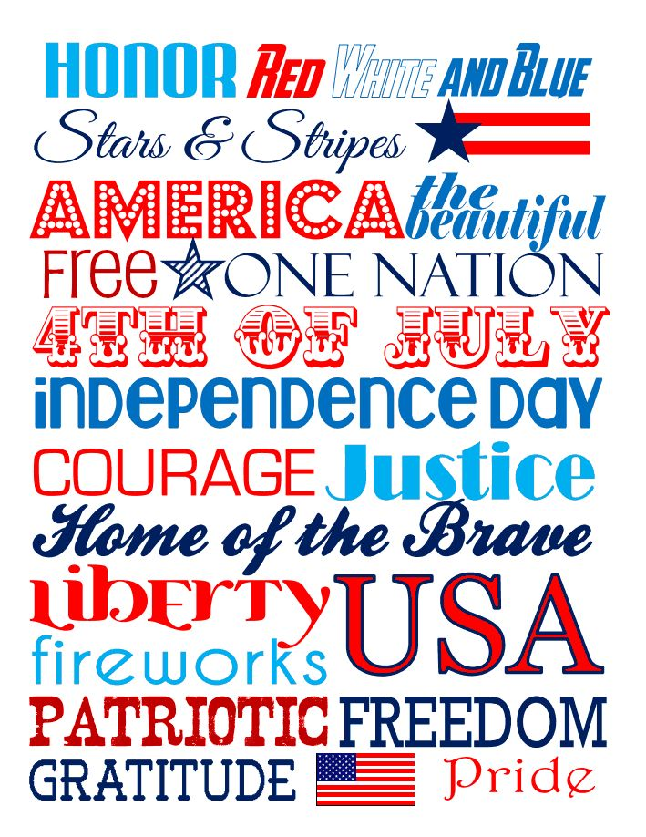 Free 4th of July Subway Art.pdf at Partylicious