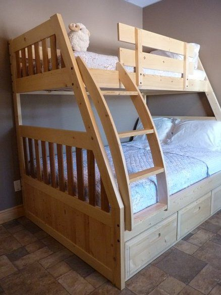 Bunk bed double single kids pinterest for Single bunk bed