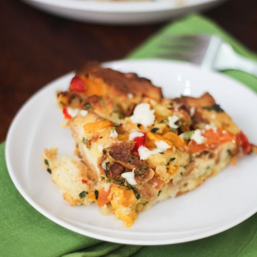 Savory Vegetable Bread Pudding | Breads, Bars and Brownies | Pinterest