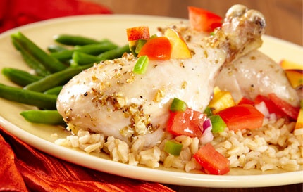 Chicken with Peach-Tomato Salsa | Chicken..... | Pinterest